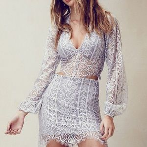 For love and lemons lyla lace crop top